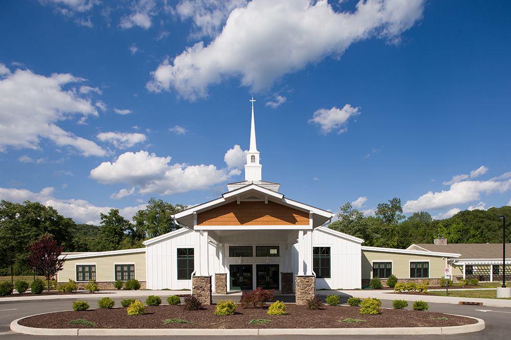 Lan featured in worship facilities magazine for company for Church exterior design