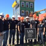 LAN Team Volunteering at Habitat for Humanity