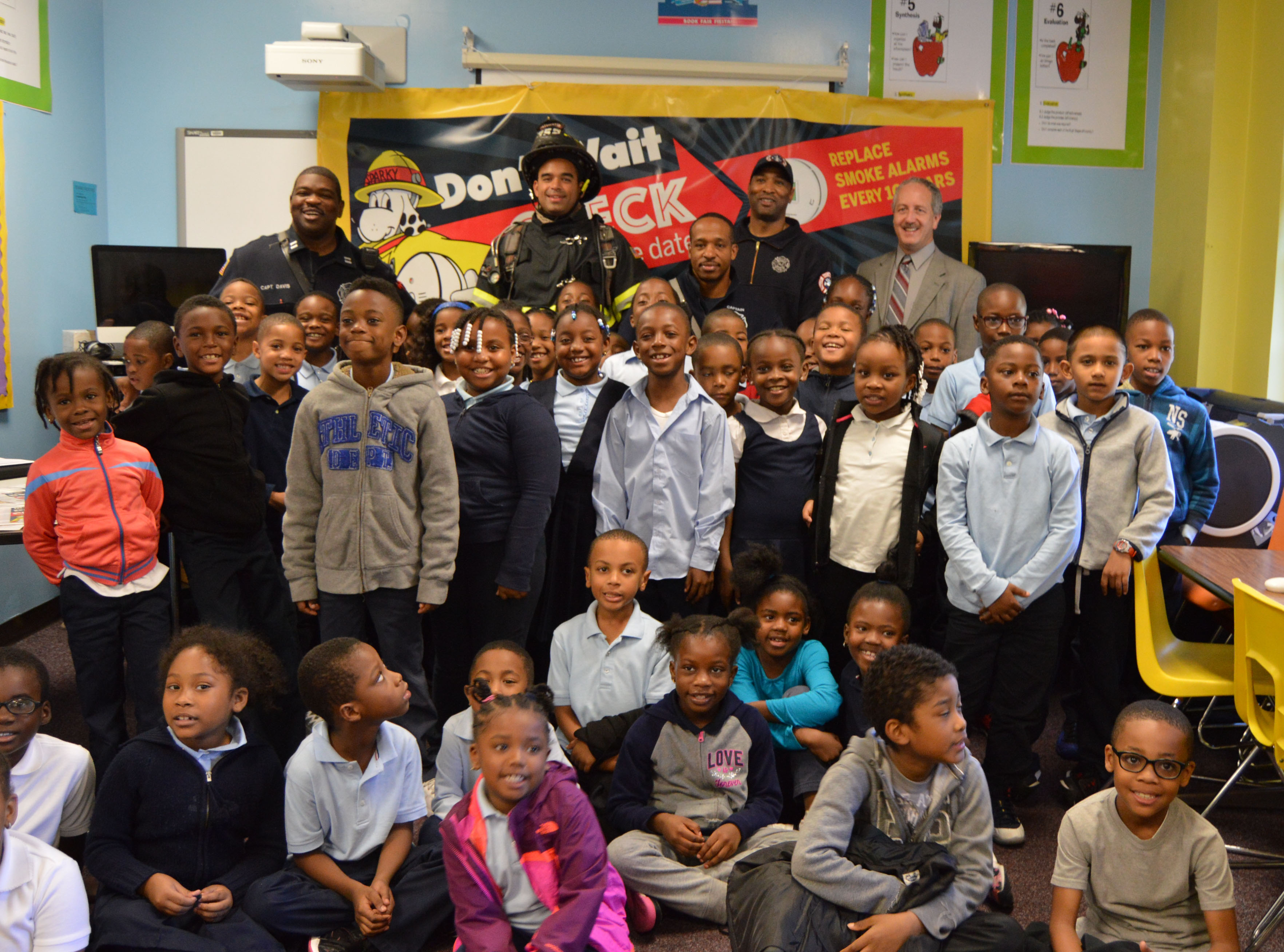 Jackson Academy Class After Fire Prevention Presentation